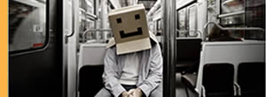 Cardboard Box Head - conceptual photo project