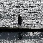 The last man in water - Light and shadow photography