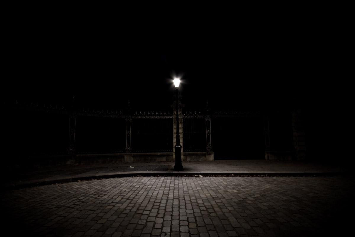 lampadaire nuit