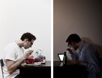 Ellipse narrative - Solitude à deux - Autoportrait diptyque