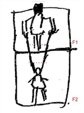 Croquis préparatoire - marionnette autoportrait diptyque
