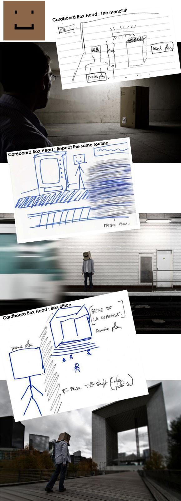 Brief créatif de la série CardBoard Box Head