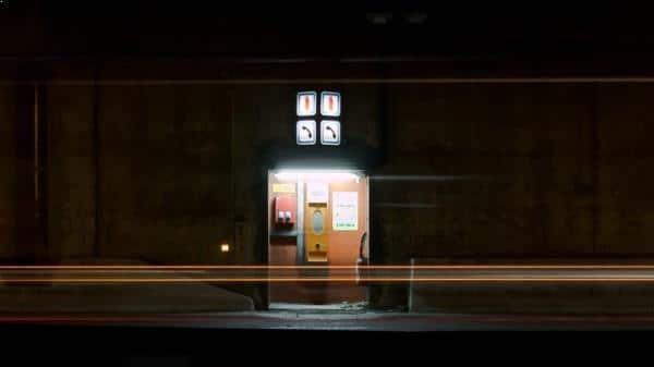 Photo de nuit urbaine - Luminous checkpoint - thumbnail