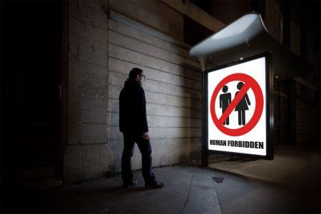 Human forbidden - night photography