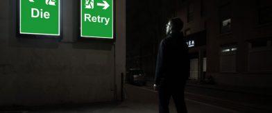 Vignette Die and retry - photographie conceptuelle de nuit