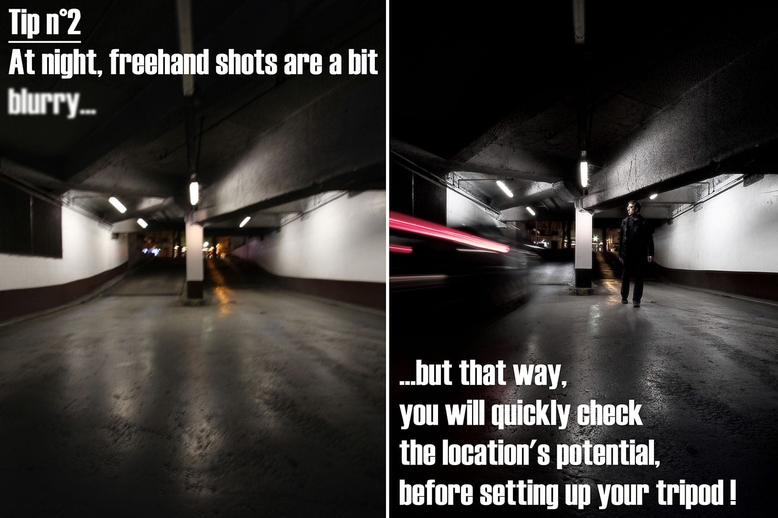 Night photography tip 2 - Freehand shots
