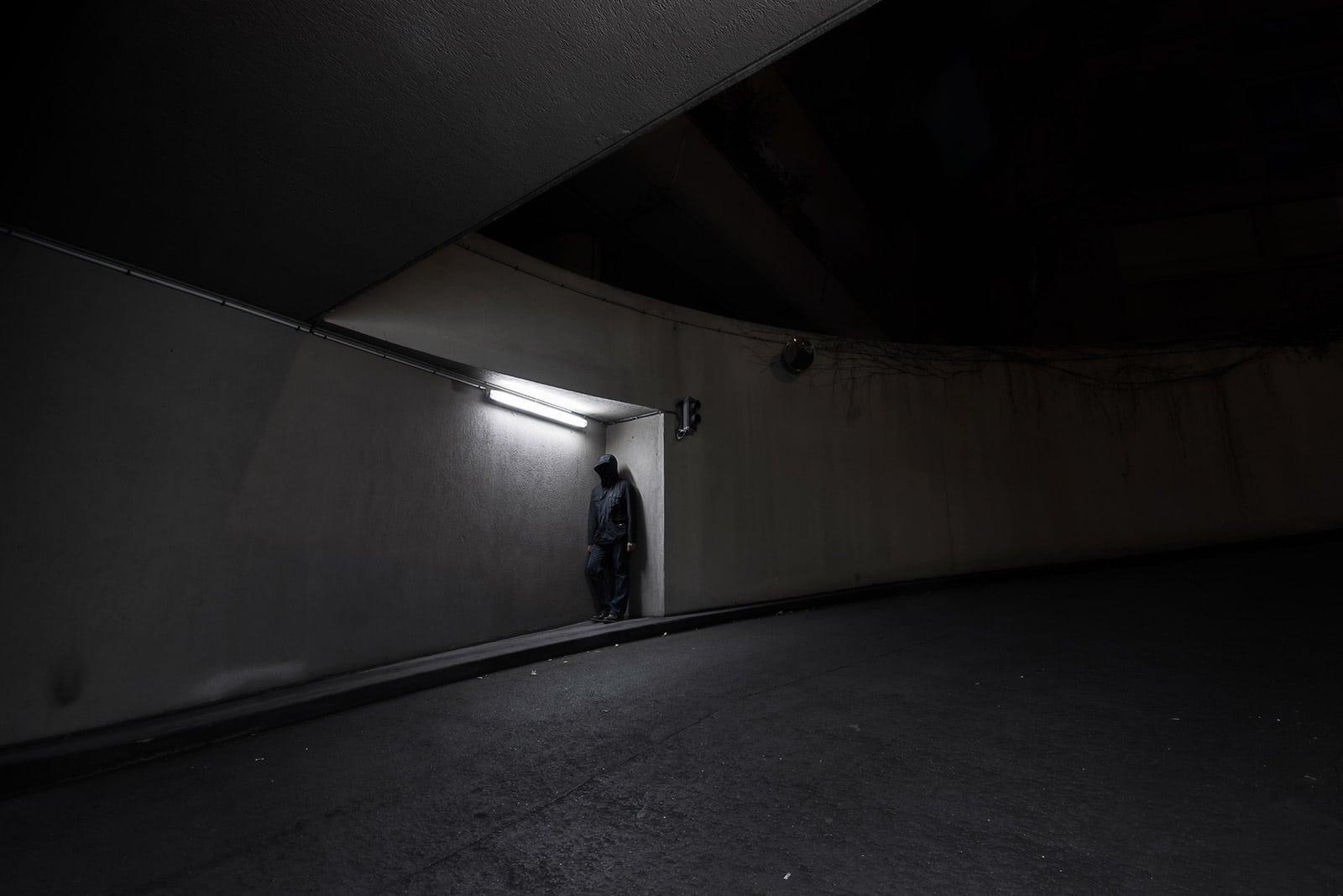 Temps de pause - Photographie de nuit conceptuelle
