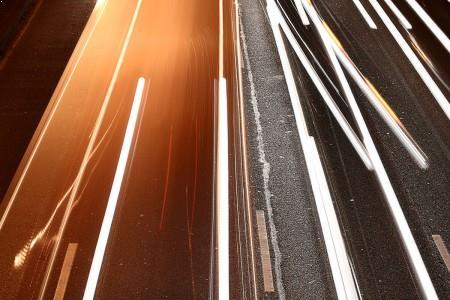 Traînée de lumière 5 - photographie de nuit