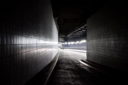 Residual light tracks - urban lights