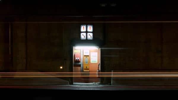 Photo de nuit urbaine - Luminous checkpoint - thumbnail